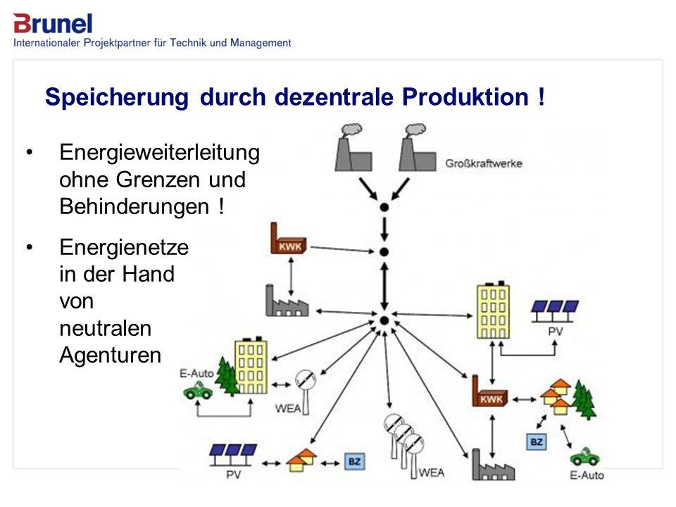 www.brunel.de 26. November 2013 8 Das Unternehmen Speicherung durch dezentrale Produktion ! Energieweiterleitung ohne Grenzen und Behinderungen ! Ener