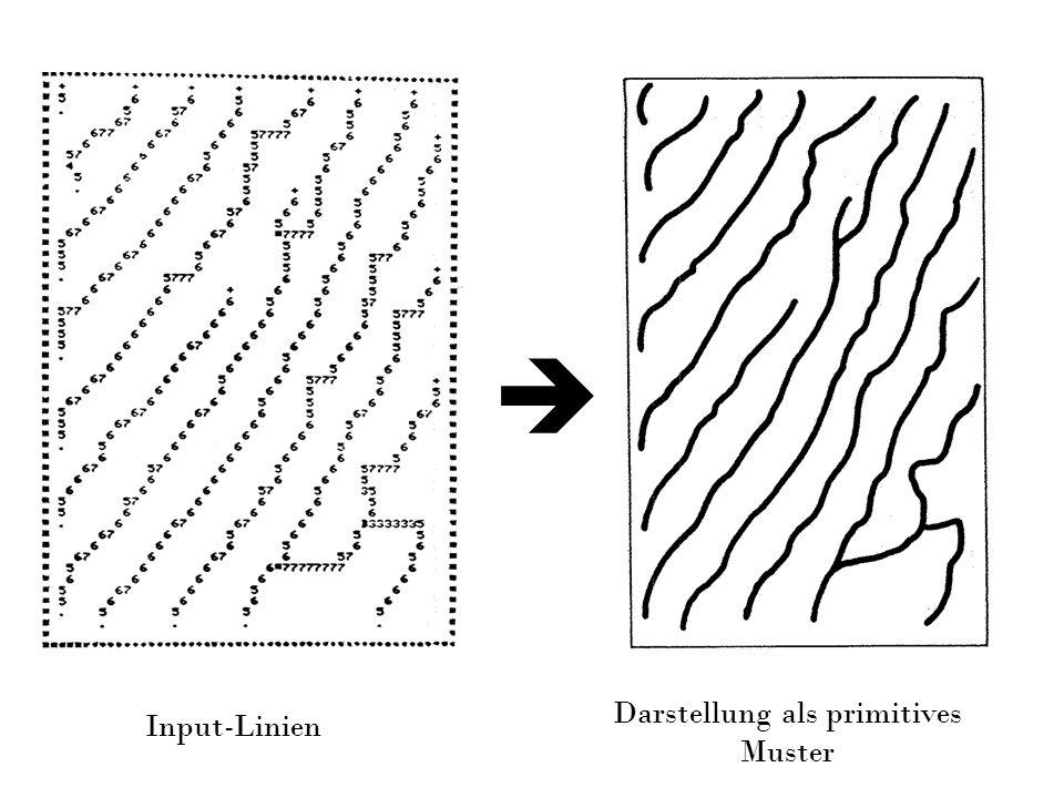 Input-Linien Darstellung als primitives Muster
