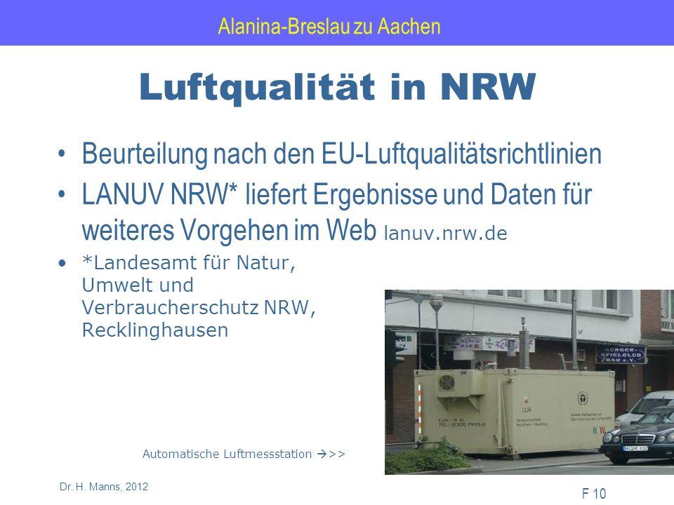 Alanina-Breslau zu Aachen F 10 Dr. H.