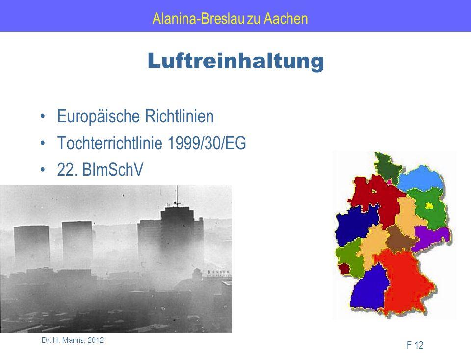 Alanina-Breslau zu Aachen F 12 Dr. H.
