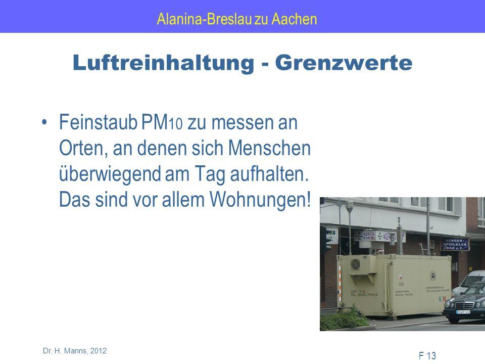 Alanina-Breslau zu Aachen F 13 Dr. H.