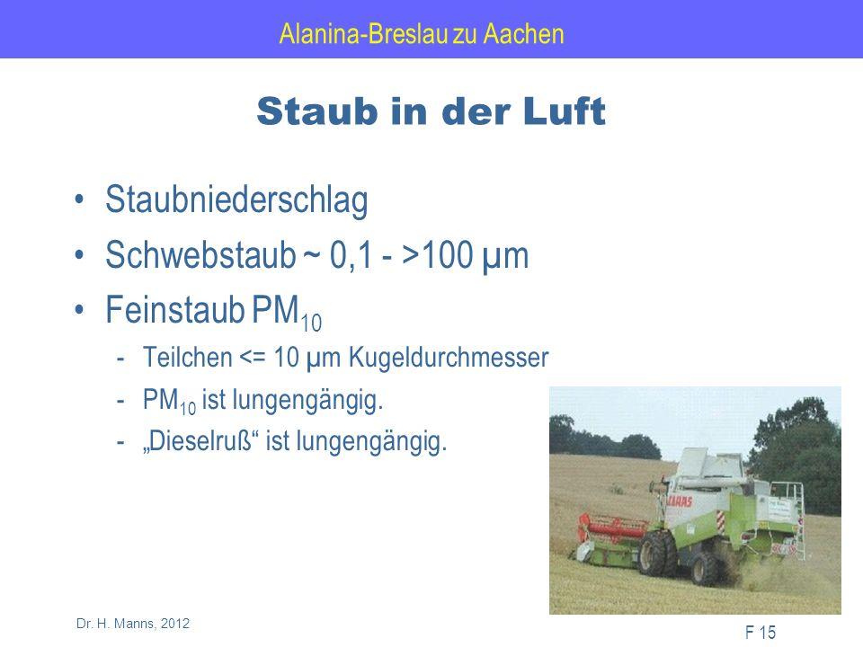 Alanina-Breslau zu Aachen F 15 Dr. H.