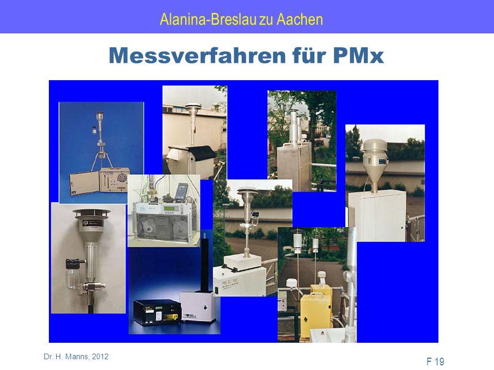 Alanina-Breslau zu Aachen F 19 Dr. H. Manns, 2012 Messverfahren für PMx
