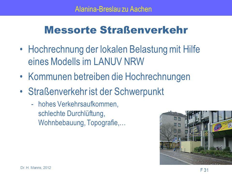 Alanina-Breslau zu Aachen F 31 Dr. H.