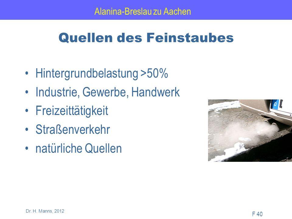 Alanina-Breslau zu Aachen F 40 Dr. H.