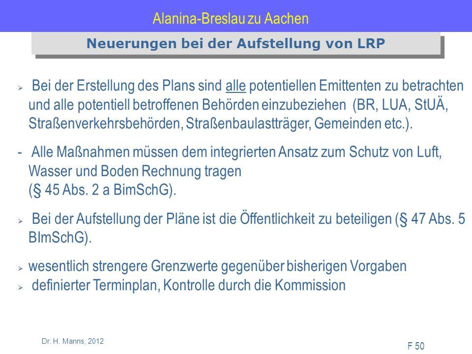 Alanina-Breslau zu Aachen F 50 Dr. H.