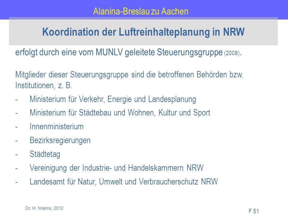 Alanina-Breslau zu Aachen F 51 Dr. H.