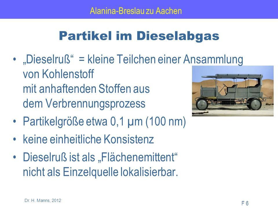 Alanina-Breslau zu Aachen F 57 Dr.H. Manns, 2012 SO 2 -Jahresmittel im Rhein-Ruhr-Gebiet 4.