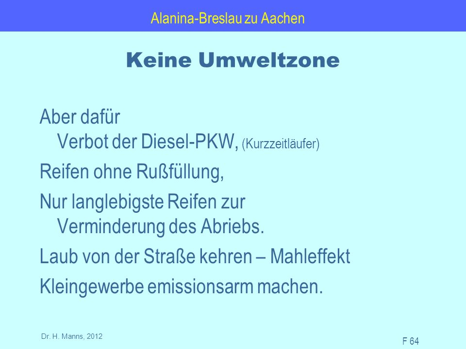 Alanina-Breslau zu Aachen F 64 Dr. H.
