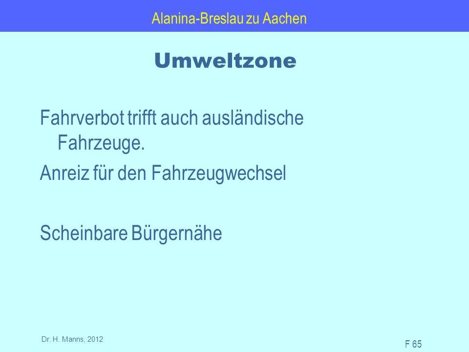 Alanina-Breslau zu Aachen F 65 Dr. H.