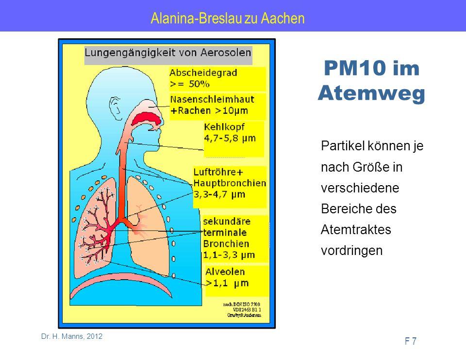 Alanina-Breslau zu Aachen F 58 Dr. H. Manns, 2012 Jahreskenngrößen 2010 NRW