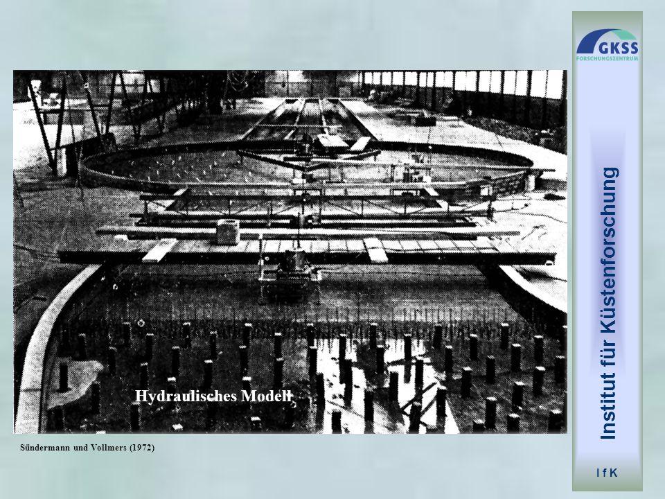 Hydraulisches Modell Institut für Küstenforschung I f K Sündermann und Vollmers (1972)