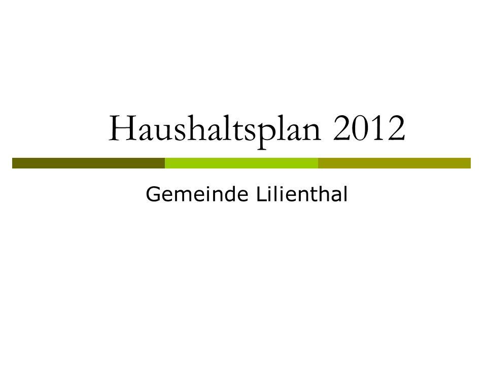 Haushaltsplan 2012 Gemeinde Lilienthal