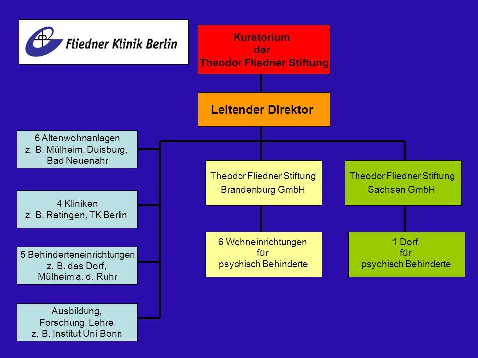 Kuratorium der Theodor Fliedner Stiftung Leitender Direktor Ausbildung, Forschung, Lehre z. B. Institut Uni Bonn Theodor Fliedner Stiftung Brandenburg