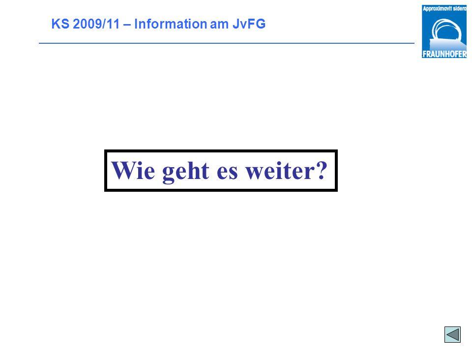 KS 2009/11 – Information am JvFG Sonderregelungen Vorverlegter Abiturtermin: März/April 2011 Lehrplankürzungen Spezielle Bestimmungen für Wiederholer