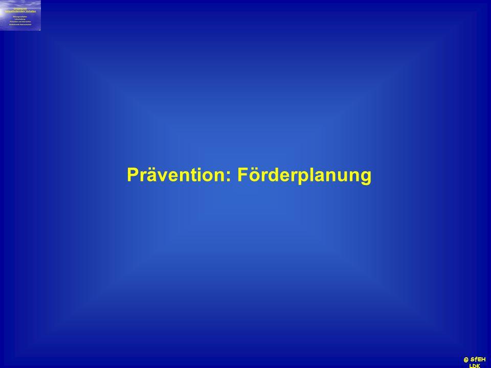 Prävention: Förderplanung © SfEH LDK
