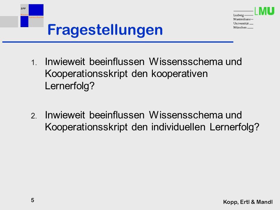 5 Kopp, Ertl & Mandl Fragestellungen 1.