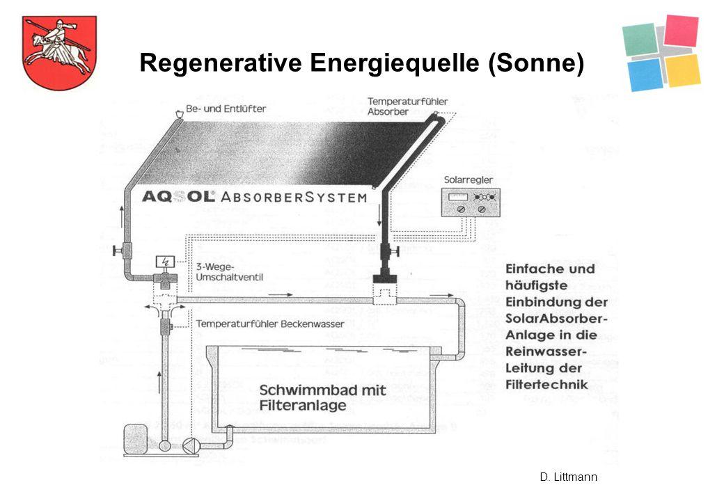 Regenerative Energiequelle (Sonne) D. Littmann