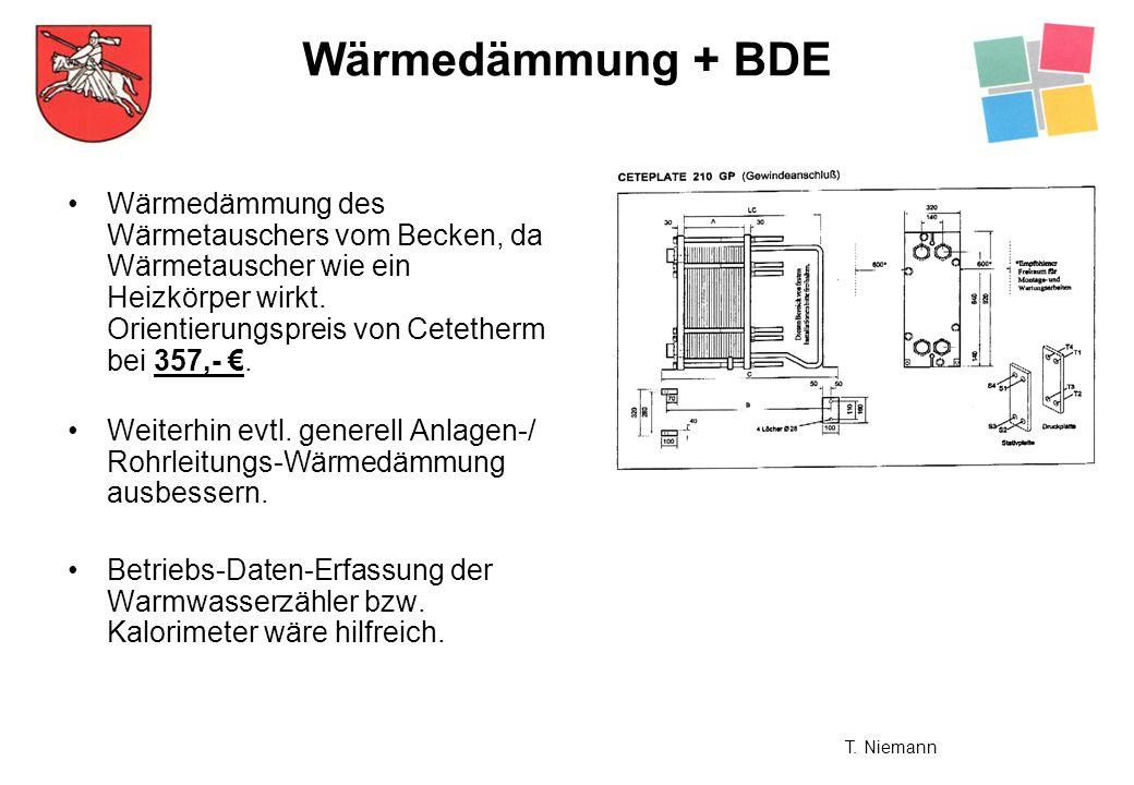 Wärmedämmung des Wärmetauschers vom Becken, da Wärmetauscher wie ein Heizkörper wirkt. Orientierungspreis von Cetetherm bei 357,-. Weiterhin evtl. gen