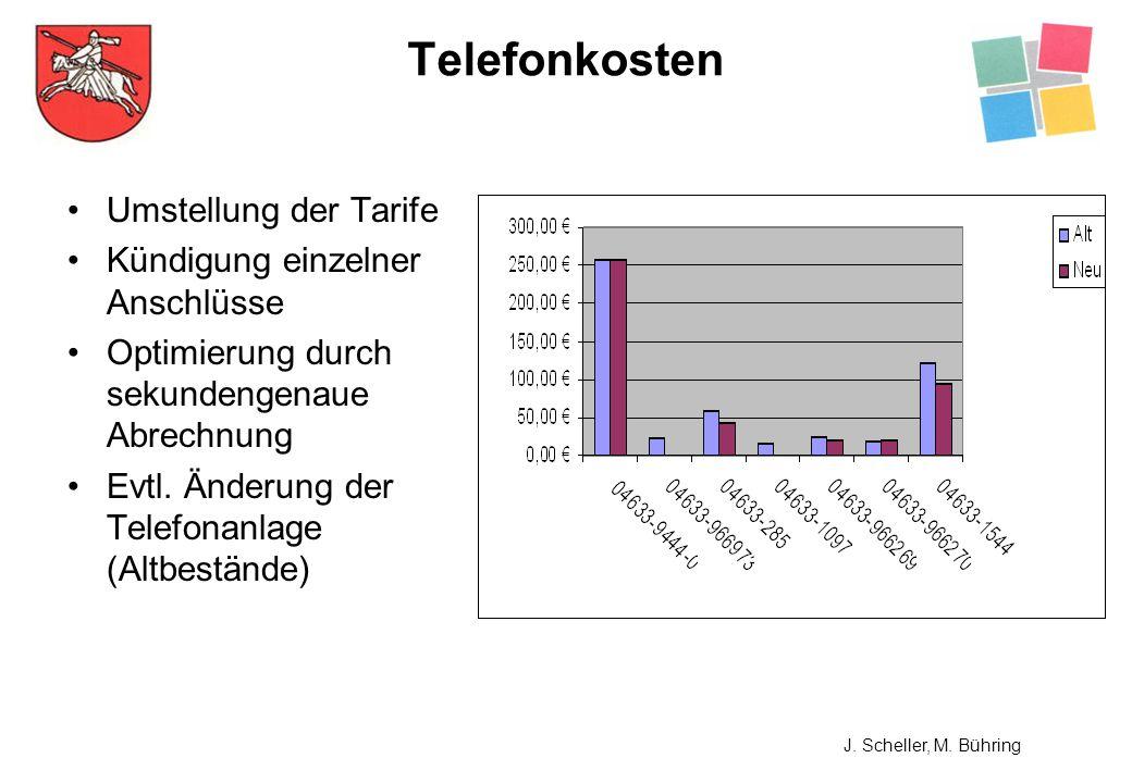 Umstellung der Tarife Kündigung einzelner Anschlüsse Optimierung durch sekundengenaue Abrechnung Evtl. Änderung der Telefonanlage (Altbestände) Telefo