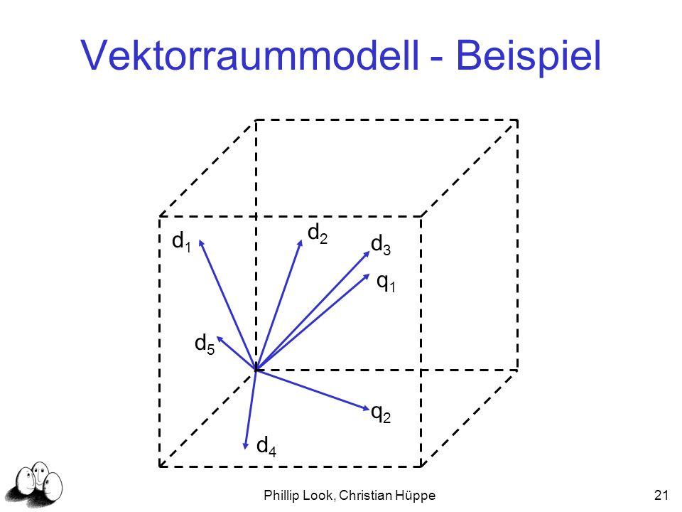 Phillip Look, Christian Hüppe21 Vektorraummodell - Beispiel q1q1 q2q2 d2d2 d1d1 d3d3 d4d4 d5d5