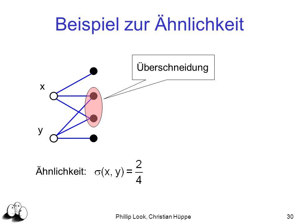 Phillip Look, Christian Hüppe30 Beispiel zur Ähnlichkeit x y Überschneidung Ähnlichkeit: