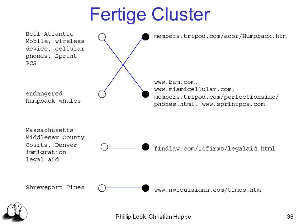 Phillip Look, Christian Hüppe36 Fertige Cluster