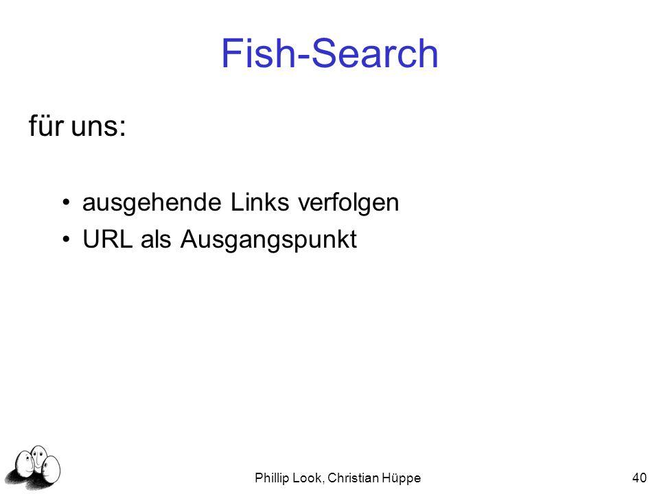 Phillip Look, Christian Hüppe40 Fish-Search für uns: ausgehende Links verfolgen URL als Ausgangspunkt