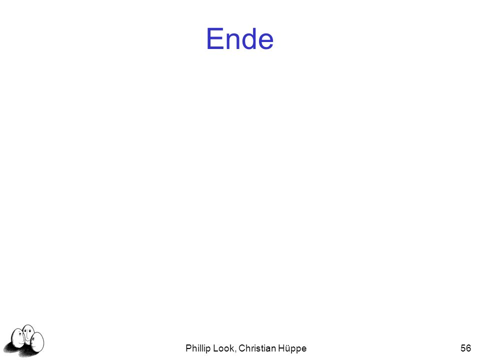Phillip Look, Christian Hüppe56 Ende
