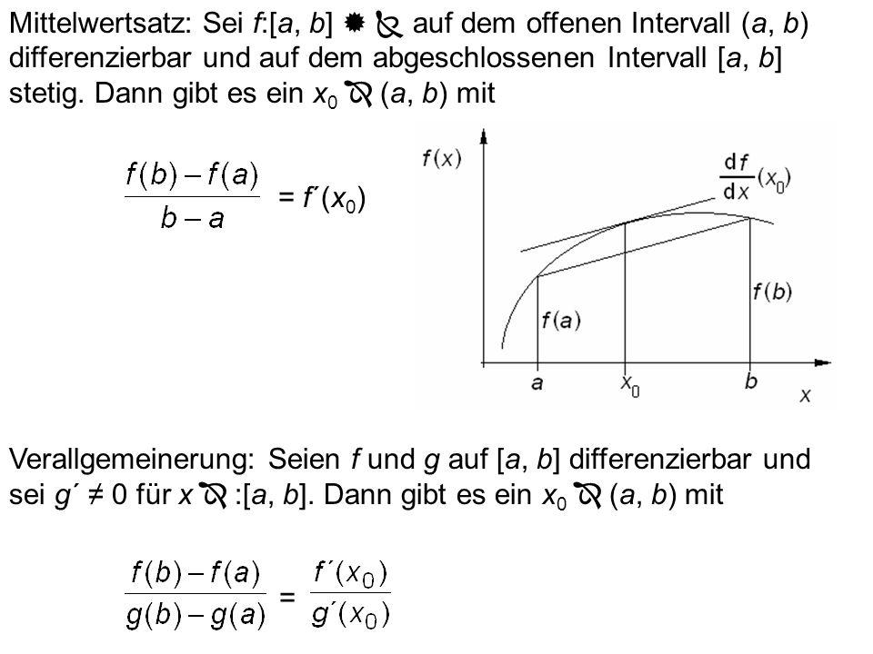 Man zeige mit der Produktregel: (mf)´ = mf´ für m = const. (x 3 )´ = (x 2. x)´ = 2x. x + x 2. 1 = 3x 2 Man zeige mit der Produktregel: dx 3 /dx = 3x 2