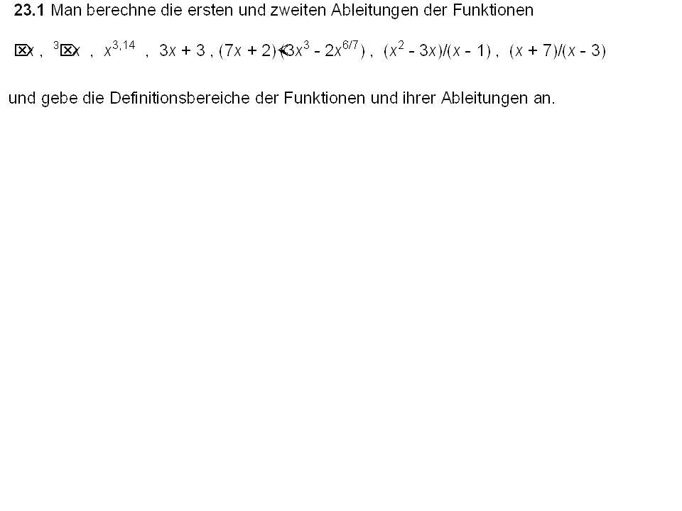 Satz (l´Hospitalsche Regel): Seien f(x) und g(x) auf dem abge- schlossenen Intervall [a, b] differenzierbar, sei g´ 0 für x [a, b]. Ist und existiert