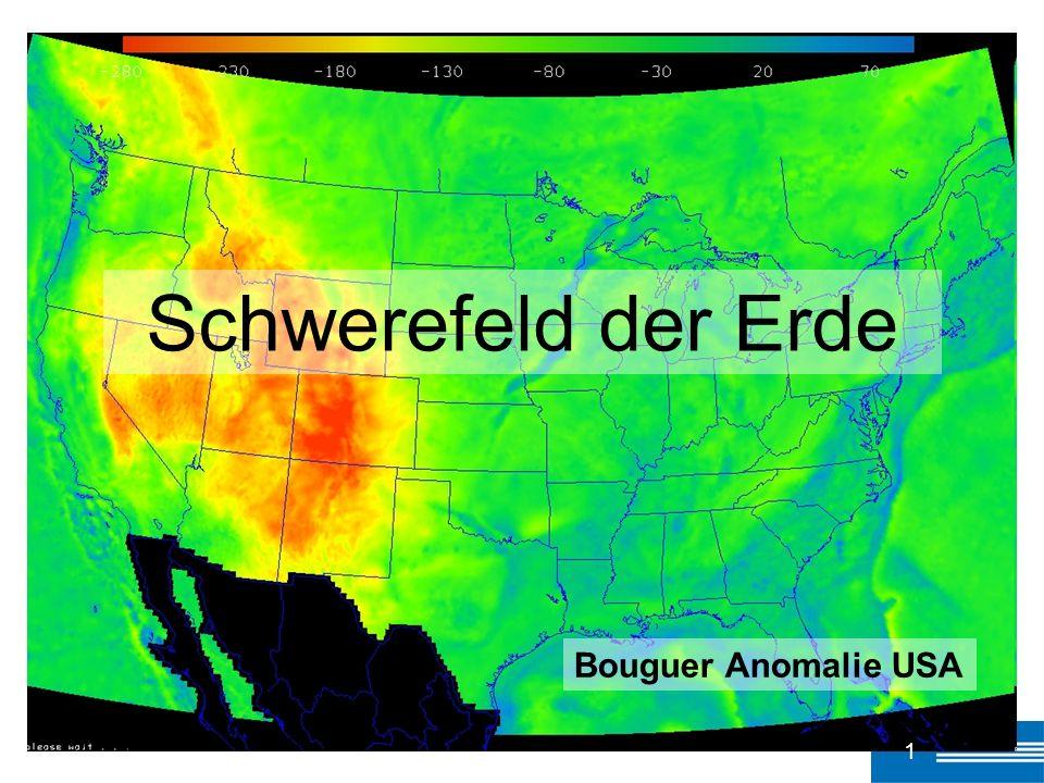 Bouguer Anomalie USA 1 Schwerefeld der Erde