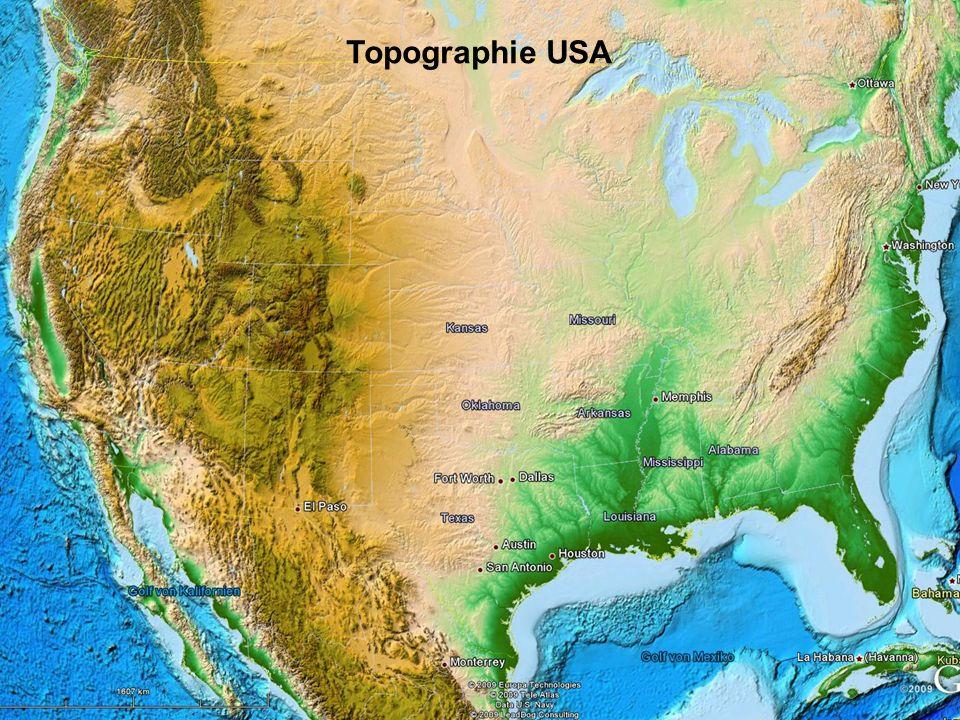 Topographie USA