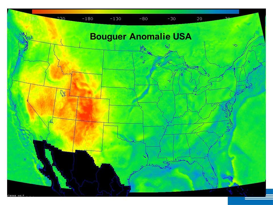 Bouguer Anomalie USA