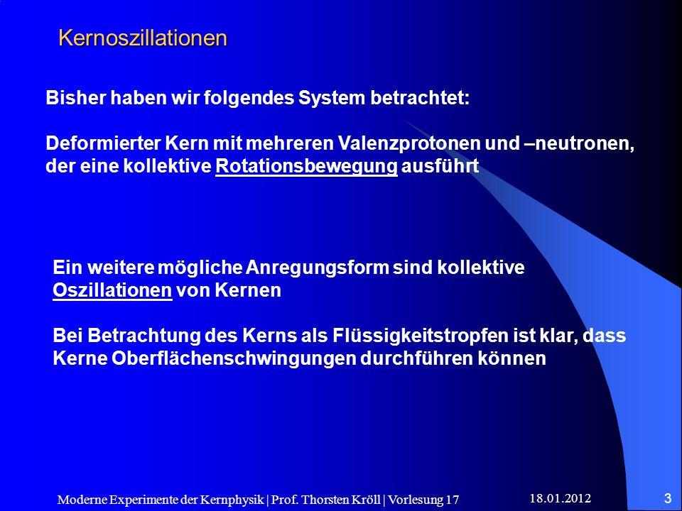 18.01.2012 Moderne Experimente der Kernphysik | Prof. Thorsten Kröll | Vorlesung 17 3 Kernoszillationen Bisher haben wir folgendes System betrachtet: