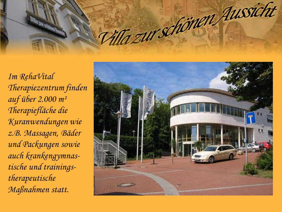 Im RehaVital Therapiezentrum finden auf über 2.000 m² Therapiefläche die Kuranwendungen wie z.B.