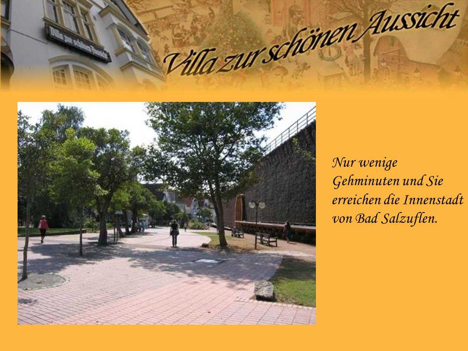 Nur wenige Gehminuten und Sie erreichen die Innenstadt von Bad Salzuflen.