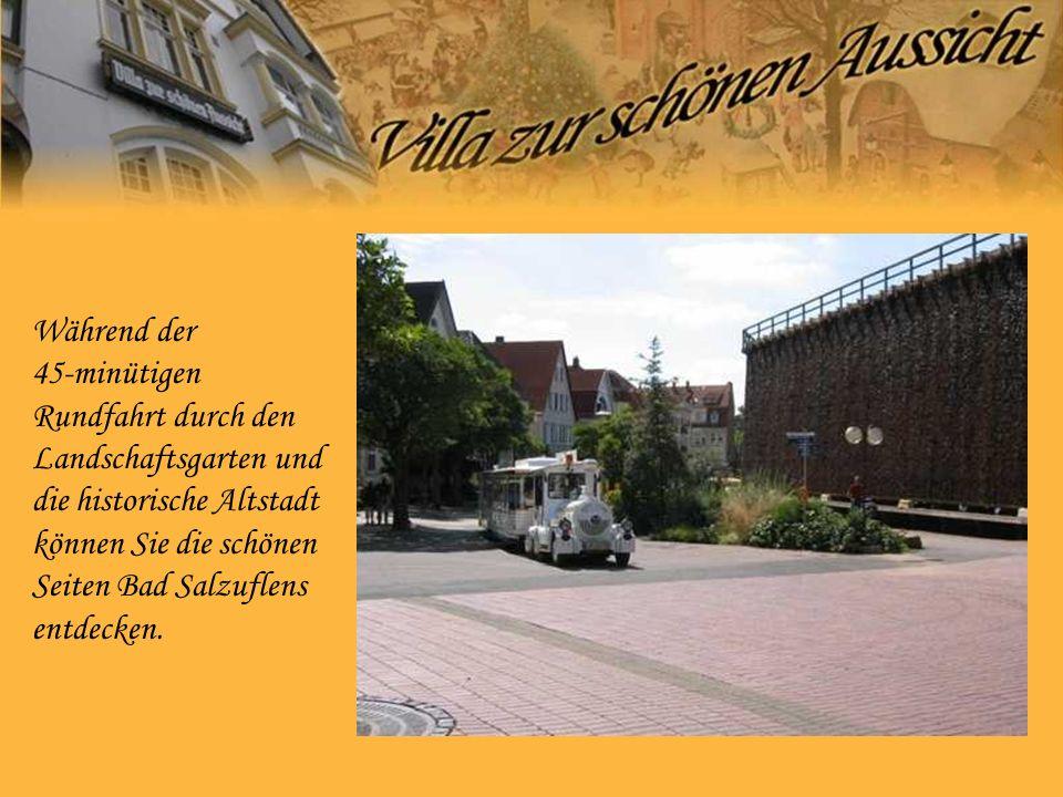 Während der 45-minütigen Rundfahrt durch den Landschaftsgarten und die historische Altstadt können Sie die schönen Seiten Bad Salzuflens entdecken.