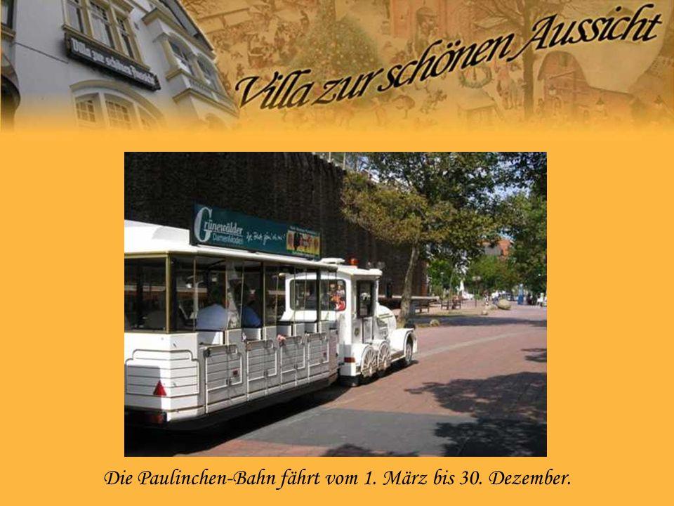 Die Paulinchen-Bahn fährt vom 1. März bis 30. Dezember.