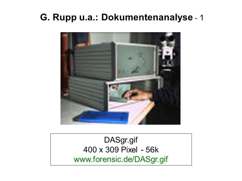 DASgr.gif 400 x 309 Pixel - 56k www.forensic.de/DASgr.gif G. Rupp u.a.: Dokumentenanalyse - 1