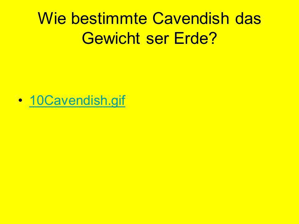 Wie bestimmte Cavendish das Gewicht ser Erde? 10Cavendish.gif