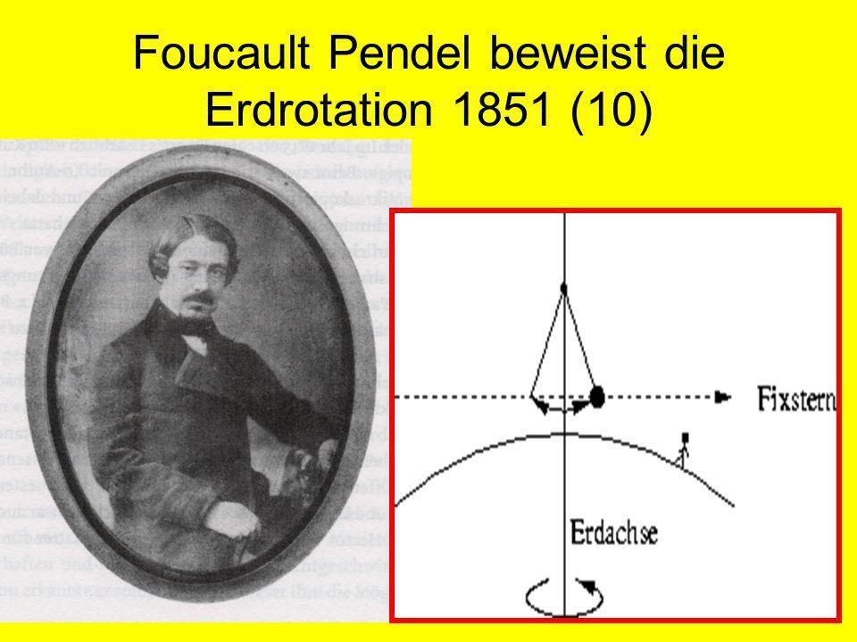Foucault Pendel beweist die Erdrotation 1851 (10)