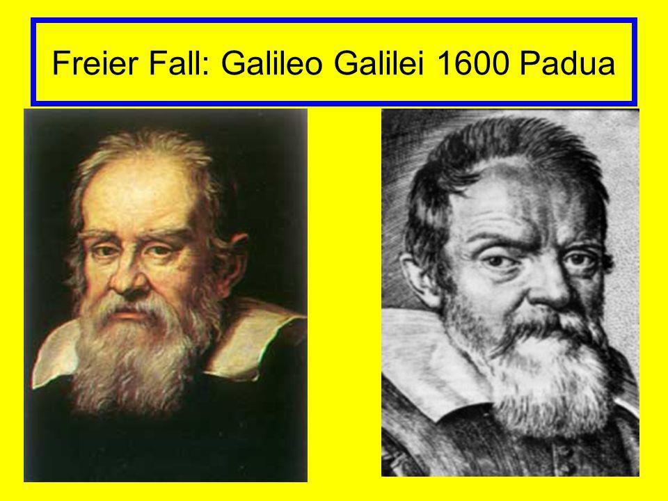 Freier Fall: Galileo Galilei 1600 Padua