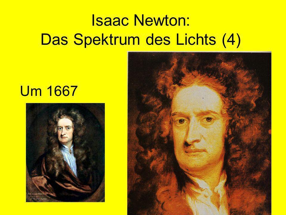 Isaac Newton: Das Spektrum des Lichts (4) Um 1667