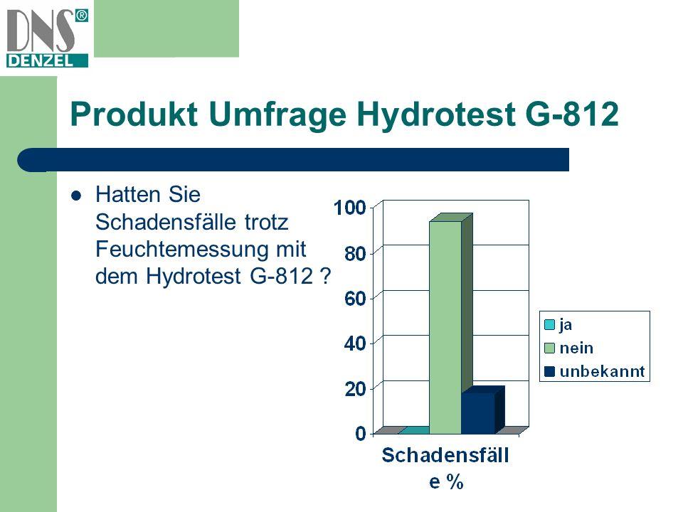 Produkt Umfrage Hydrotest G-812 Hatten Sie Schadensfälle trotz Feuchtemessung mit dem Hydrotest G-812 ?