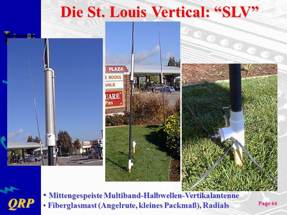 QRP Page 44 Die St. Louis Vertical: SLV Mittengespeiste Multiband-Halbwellen-Vertikalantenne Mittengespeiste Multiband-Halbwellen-Vertikalantenne Fibe