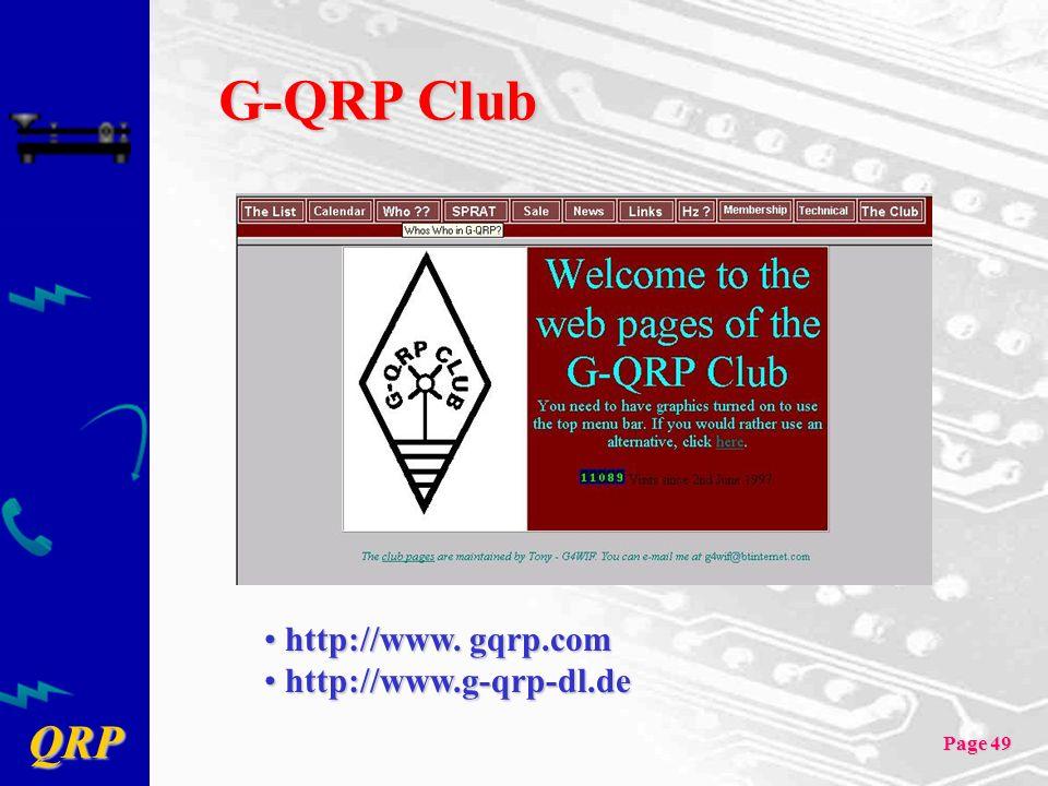 QRP Page 49 G-QRP Club http://www.gqrp.com http://www.