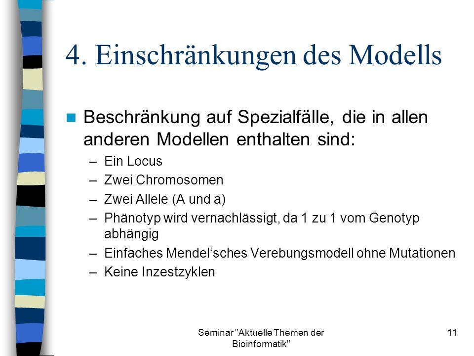 Seminar Aktuelle Themen der Bioinformatik 11 4.