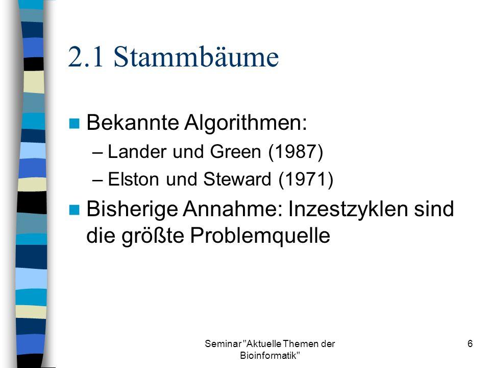 Seminar Aktuelle Themen der Bioinformatik 27 8.3 Wahrscheinlichkeitsverteilung in MP(G) Verteilung für die Gründer wie im vorherigen Beweis P(AA 3i+1 )= P(Aa 3i+1 )=1/2, i {1,...,v} Marginale Wahrscheinlichkeiten für das Kantengadget in Abängigkeit von 3i+1 und 3j+1: 3i+13j+1P AA 0 Aa3/32 AaAA3/32 Aa 3/32
