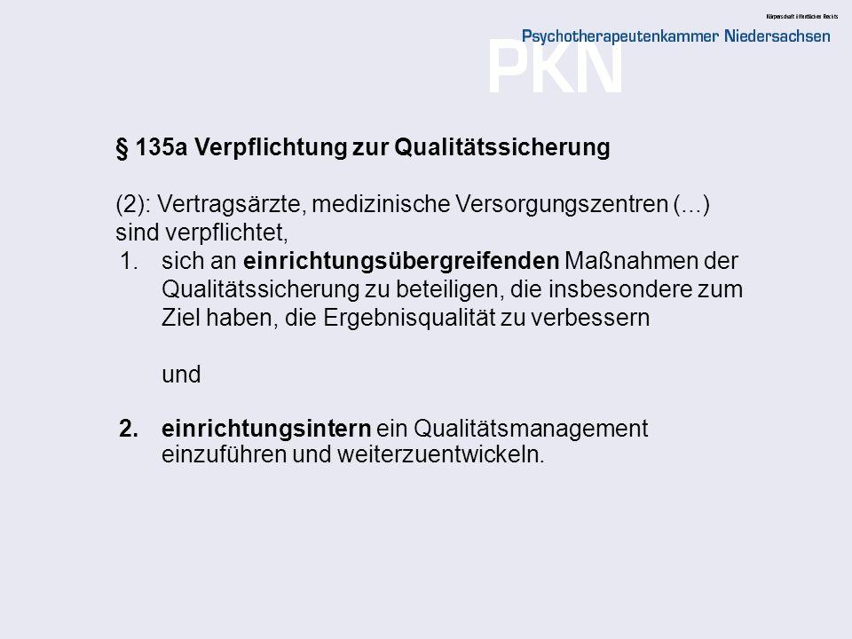 6 Der GB-A bestimmt: 1.einrichtungsübergreifenden Maßnahmen der Qualitätssicherung 2.Verpflichtende Maßnahmen zur Einrichtung eines einrichtungsinternen Qualitätsmanagements 3.grundsätzlichen Anforderungen an ein einrichtungsinternes Qualitätsmanagement Die Qualitätsmanagementrichtlinie vertragsärztliche Versorgung des GB-A, die am 1.01.2006 in Kraft getreten ist, bezieht sich auf die Ziffern 2 und 3!